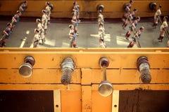 Foosball, old used table football Stock Photo