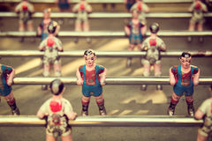 Foosball, old used table football Royalty Free Stock Photography