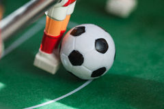 Foosball. Plastic toy soccer ball foosball royalty free stock photos