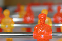 Foosball Player / Table. Foosball Player and table Stock Images