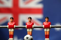 Foosball player table soccer royalty free stock image