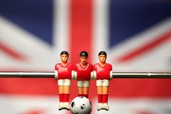 Foosball player table soccer royalty free stock photo