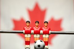 Foosball player table soccer royalty free stock images