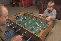Foosball Players Royalty Free Stock Images