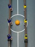 Foosball Spiel-Oberseitenschuß lizenzfreie stockbilder