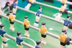 Foosball-Tabelle oder Fußball und Spieler Stockfotografie
