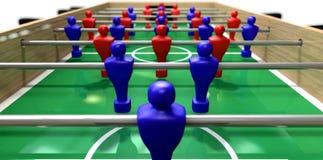 Foosball-Tabellen-Perspektive Lizenzfreie Stockbilder
