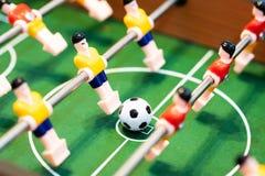Foosball-Tabellenfußball Fußballspieler, Sportkonzept stockbilder