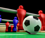 Foosball Table Closeup Stock Photography