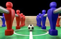 Foosball Table Closeup Stock Photo