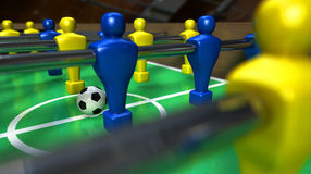 Foosball Table Closeup Stock Photo