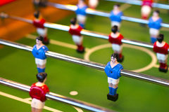 Foosball table closeup Royalty Free Stock Image