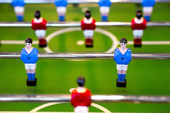 Foosball table closeup Royalty Free Stock Images