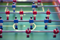Foosball table closeup Stock Image