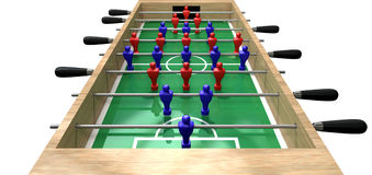 Foosball Table High Top View Royalty Free Stock Image