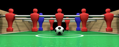 Foosball Table One Team Stock Photo