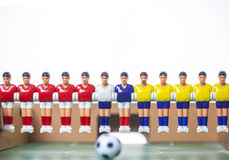 Foosball table players Stock Photography