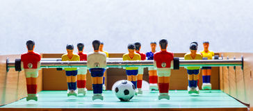 Foosball table soccer  football players sport teame Stock Image