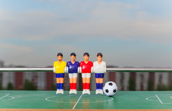 Foosball table soccer football players sport teame Stock Photography