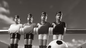 Foosball table soccer . football players sport time Stock Image
