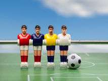 Foosball table soccer . football players sport time Royalty Free Stock Photos