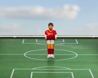 Foosball table soccer football players sport toy Royalty Free Stock Image