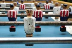 Foosball table soccer little men Royalty Free Stock Photography