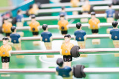 Foosball table or soccer and players Stock Images