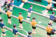 Foosball table or soccer and players Stock Photography