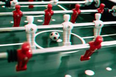 Foosball table soccer sport team football players.  stock photography