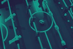Foosball table soccer sport team football players.  royalty free stock images