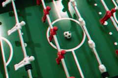 Foosball table soccer sport team football players.  royalty free stock photos