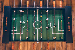 Foosball Table Top View Stock Image Image Of