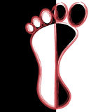 Foot. Illustration black and white feet like abstract background Royalty Free Stock Photo