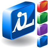 Foot 3D Icon Stock Photo