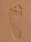 Foot. In the sand stock photos