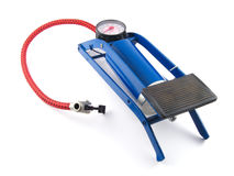 Foot air pump for car or bicycle Royalty Free Stock Image