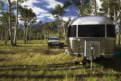 28 foot Airstream on Hastings Mesa near Ridgway, Colorado, USA Stock Images
