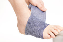 Foot ankle bandage Royalty Free Stock Photography