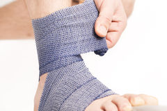 Foot ankle bandage Royalty Free Stock Photos