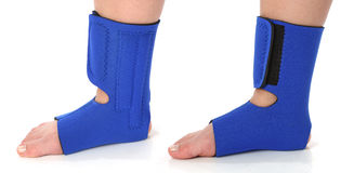 Foot with an ankle brace Royalty Free Stock Photos