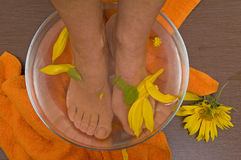 Foot aroma therapy Royalty Free Stock Image