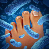 Foot Bacteria Stock Photography
