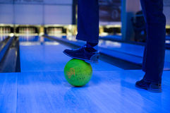 Foot on ball Royalty Free Stock Images