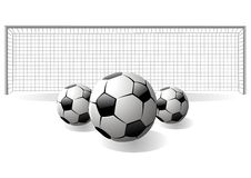 Foot ball and net Stock Photography
