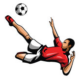 Foot ball player Stock Photography