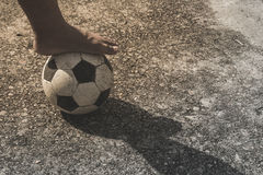 foot on ball Stock Images