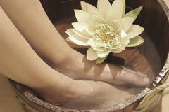 Foot bath Royalty Free Stock Images