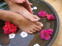 Foot Bath 1e. Foot treatment royalty free stock images