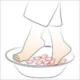 Foot baths Stock Photography